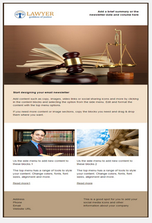 Sample legal and consulting email and newletter template