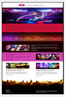Sample entertainment and event email and newletter template