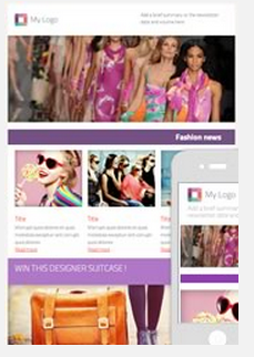 Sample fashion email and newletter template