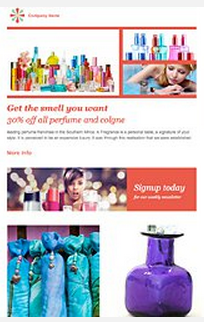 Sample fragrance email and newletter template