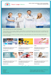Sample medical email and newletter template