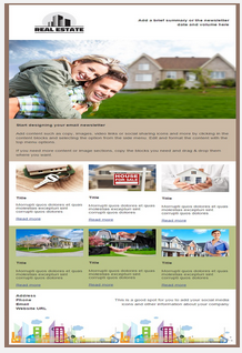 Sample real estate email and newletter template