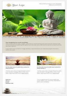 Sample spa and culture email and newletter template