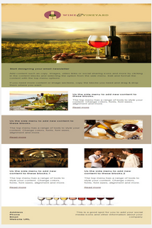 Sample wine email and newletter template