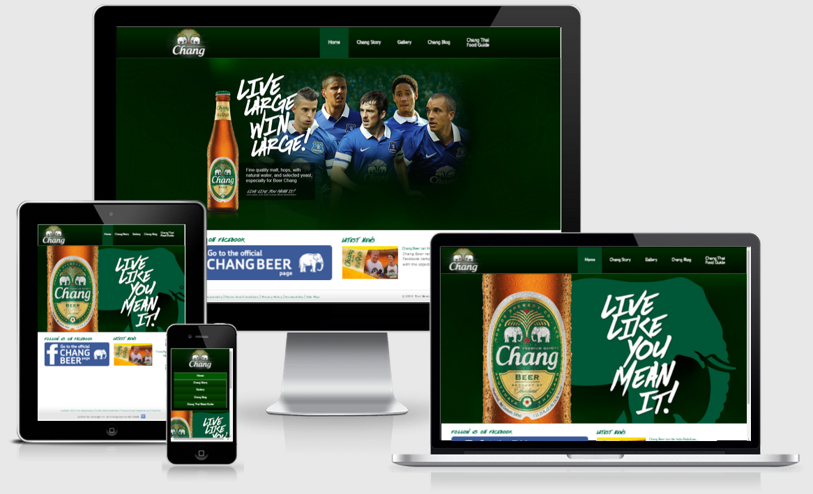 Chang Beer responsive website