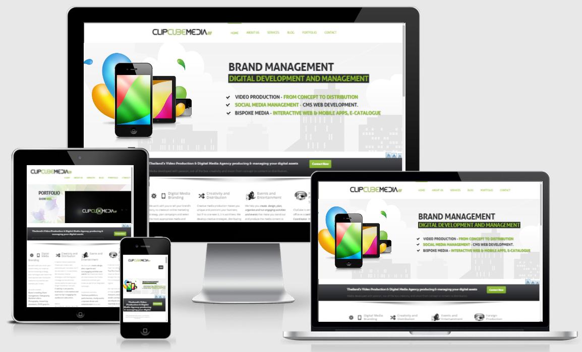 ClipCube Media responsive website