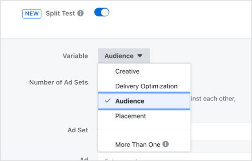Facebook Split testing by ClipCube Media